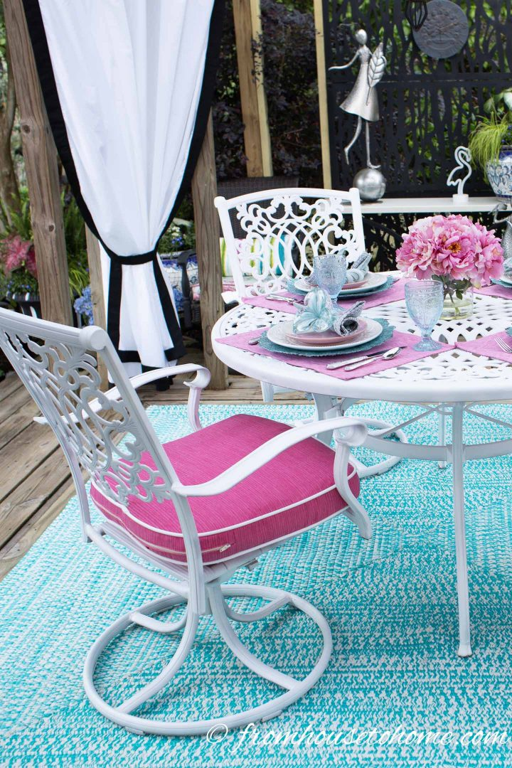 Aluminum deck furniture is very low maintenance