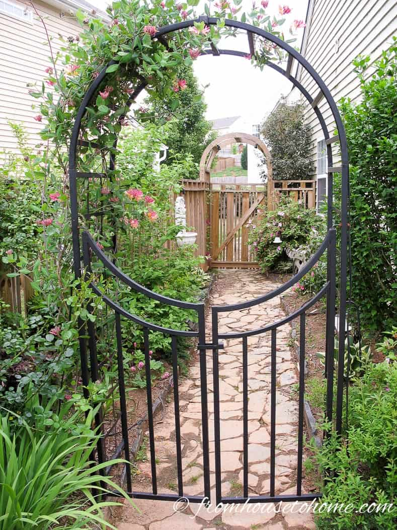Metal arbors look great | 10 Tips For Creating A Low Maintenance Garden