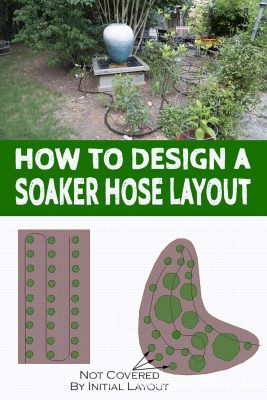 how to design a soaker hose layout