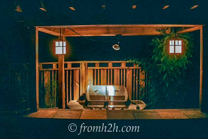Create task lighting | How To Make a Cozy Outdoor Living Space | If you want some ideas for making a zen outdoor living space, these easy tips will help you create an area that is cozy and relaxing.
