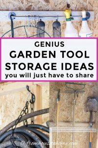 Genius DIY garden tool storage ideas