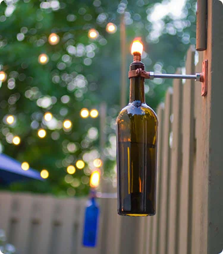 DIY Outdoor Torch, via designsponge.com | 10 Beautiful Ways To Light Your Garden