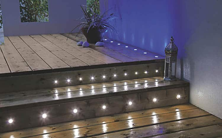 Decking & Ground Lights, Photo by B&Q | 8 Landscape Lighting Effects and How To Use Them
