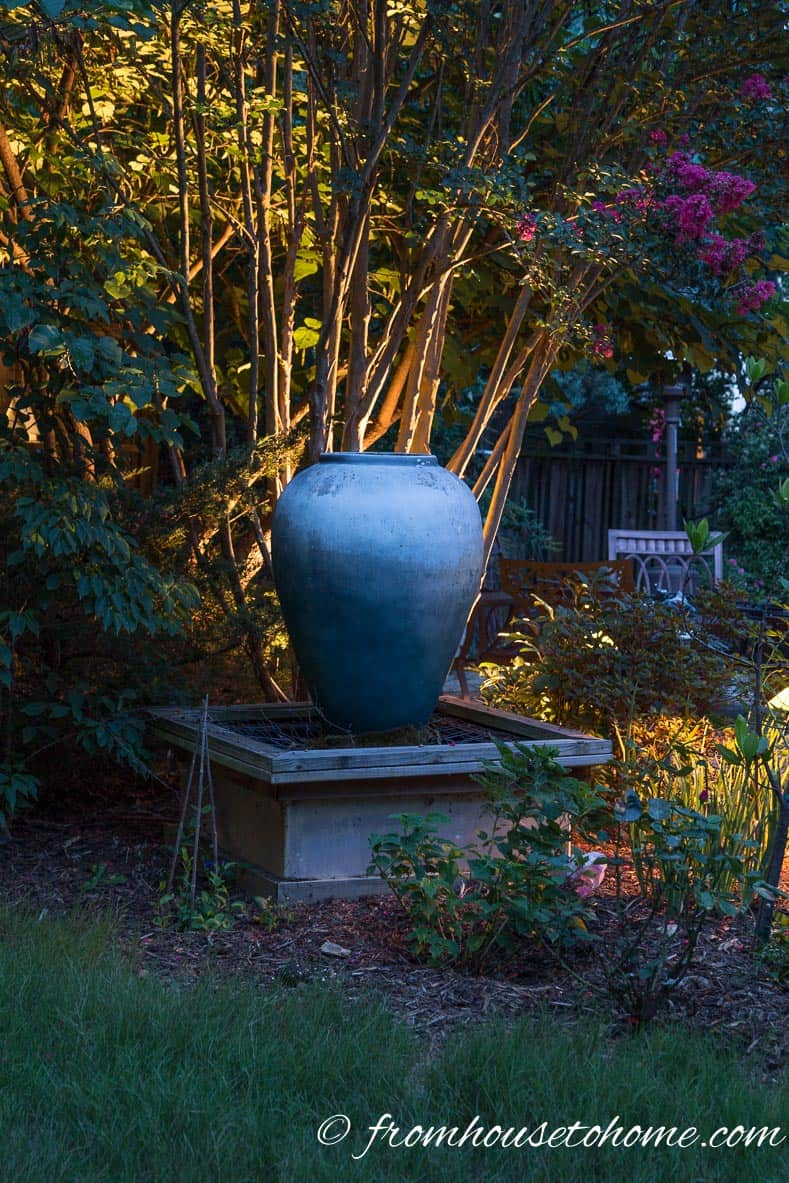 Lighting behind an object can make it stand out | How To Design And Install Landscape Lighting