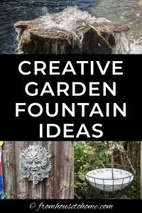 creative garden fountain ideas