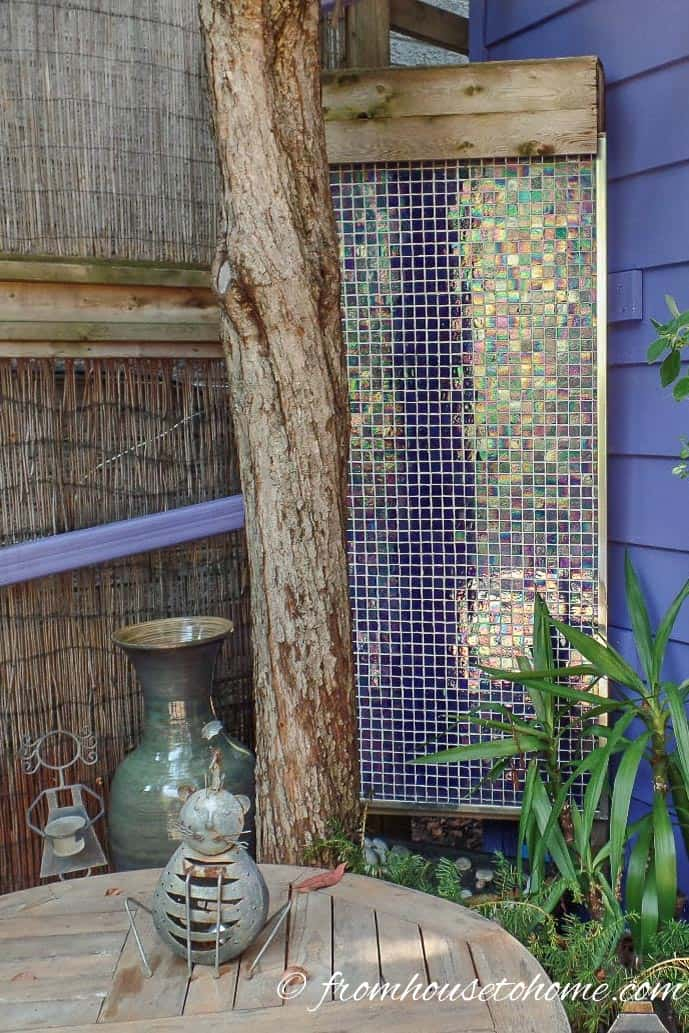 Mosaic Tile Water Fountain | How To Create a Relaxing Deck