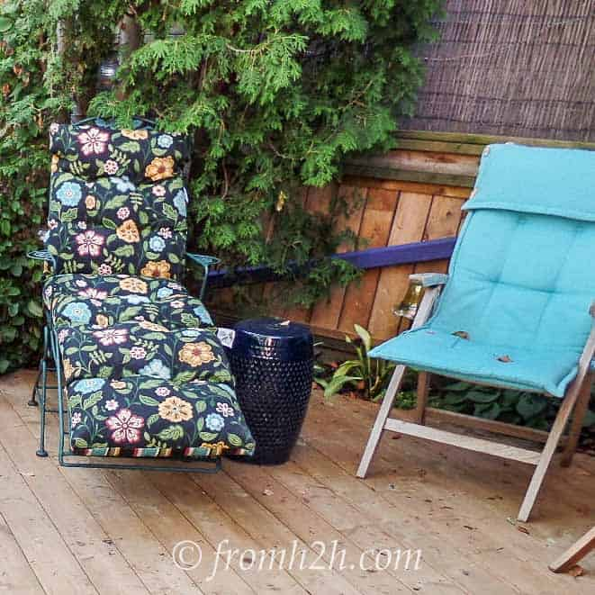 Every deck needs a lounge chair | How To Create a Relaxing Deck