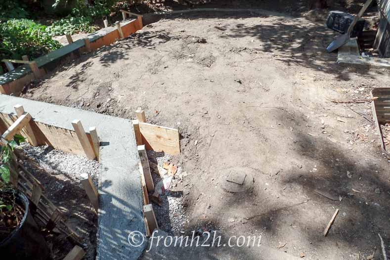 The concrete edge will keep the raccoons from digging under the new deck | How To Create a Relaxing Deck