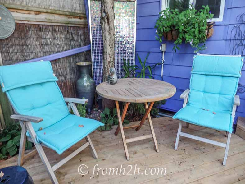 Dining outside is always a treat | How To Create a Relaxing Deck