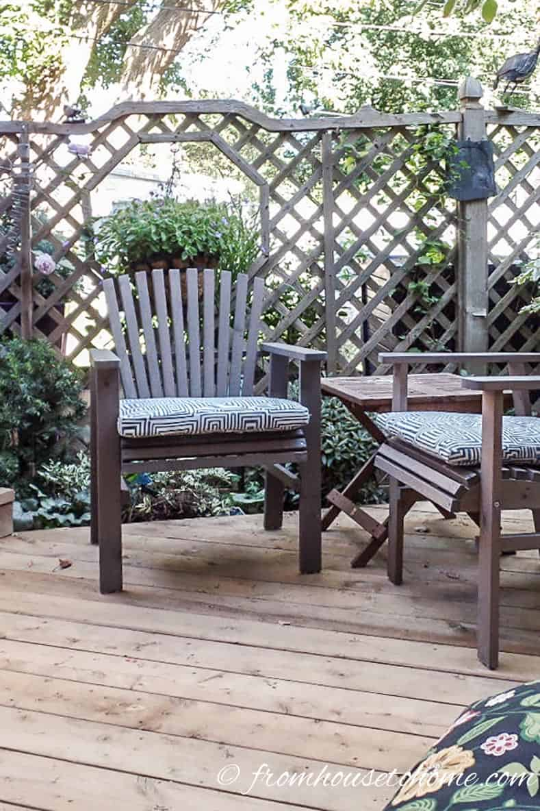 "The lattice fence creates a ""room"" 