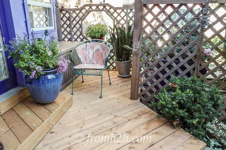 Large potted plants   How To Create a Relaxing Deckv