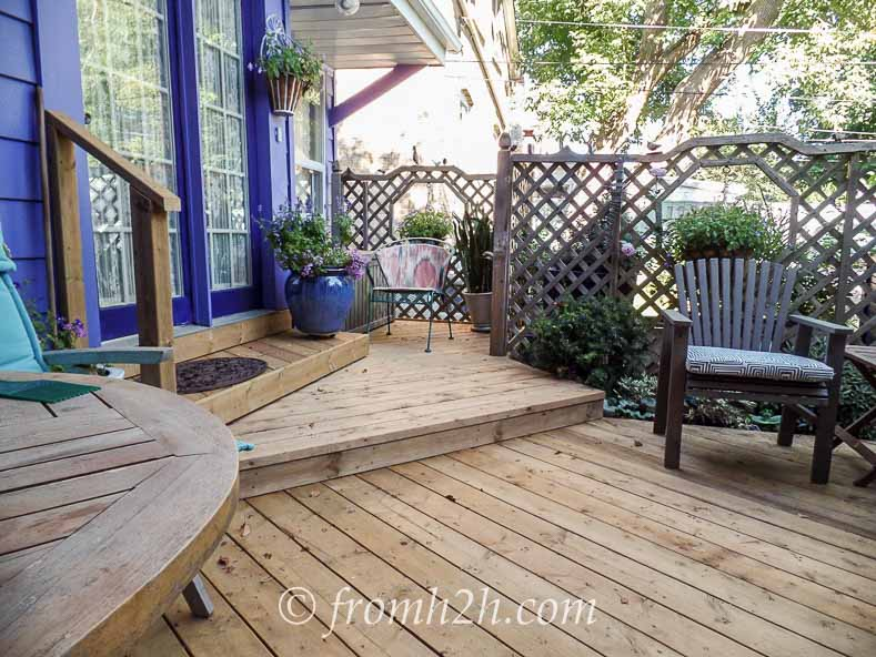 The new deck steps | How To Create a Relaxing Deck