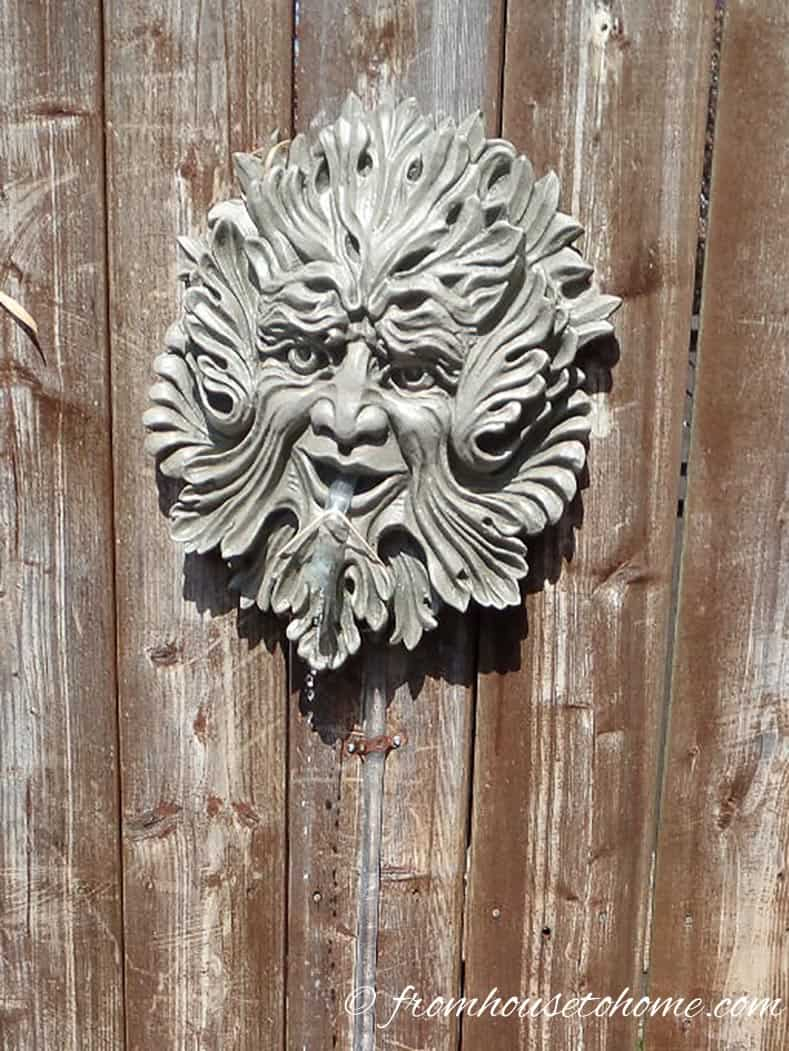 Wall sculpture | Easy Ways To Add Water To Your Garden