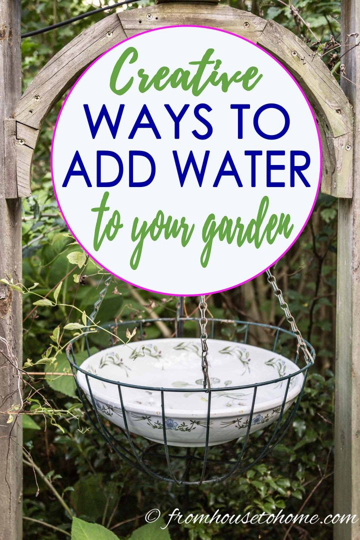 Ways to add water to your garden