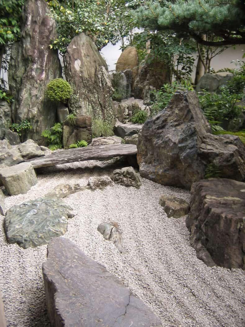 Japanese Garden dry river at Daisen-in