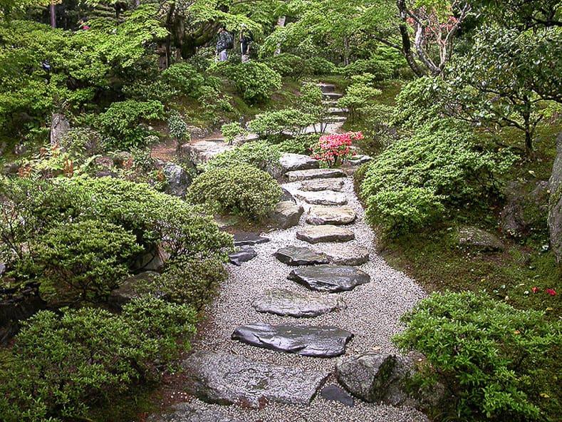 Japanese garden path, via insidekyoto.com