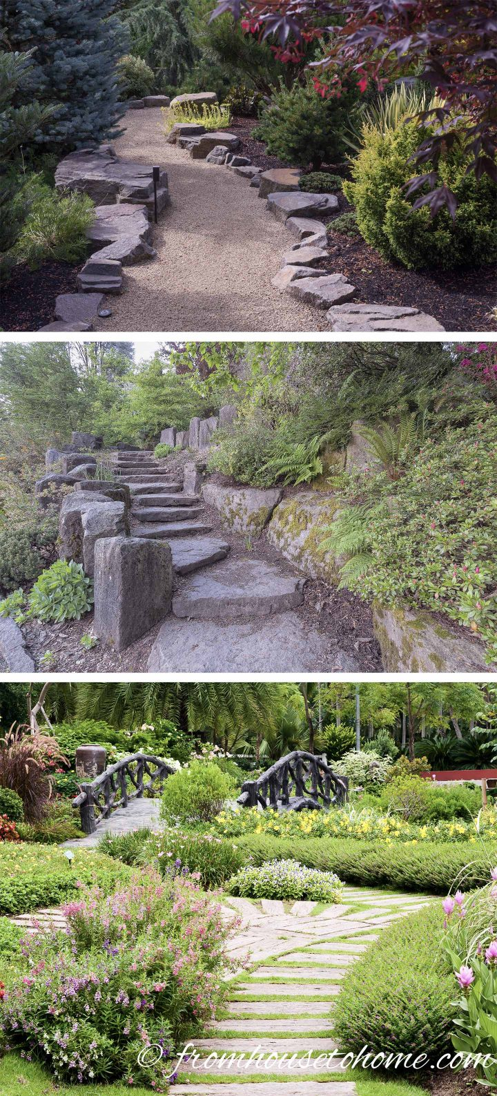 Adding paths to your plan gives people a destination (images via Jamie Hooper, jpldesigns, sutichak / stock.adobe.com)