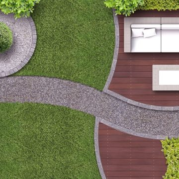 Curves even look good in a modern garden design