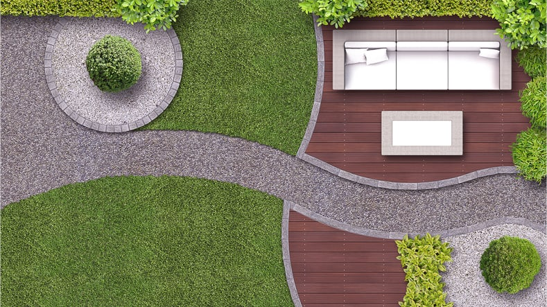Curves even look good in a modern garden design (image via Wilm Ihlenfeld / Adobe Stock) | 10 Secrets to Successful Landscape Design | If you are planning to update your landscape design, this list of ideas will help to make sure your garden turns out to be a success.