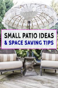 Small patio ideas and space saving tips