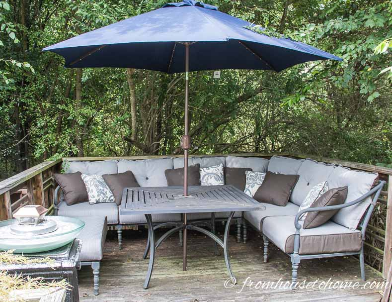 This outdoor sectional fits my small back deck perfectly