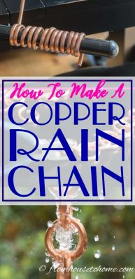 How To Make A Beautiful Copper DIY Rain Chain