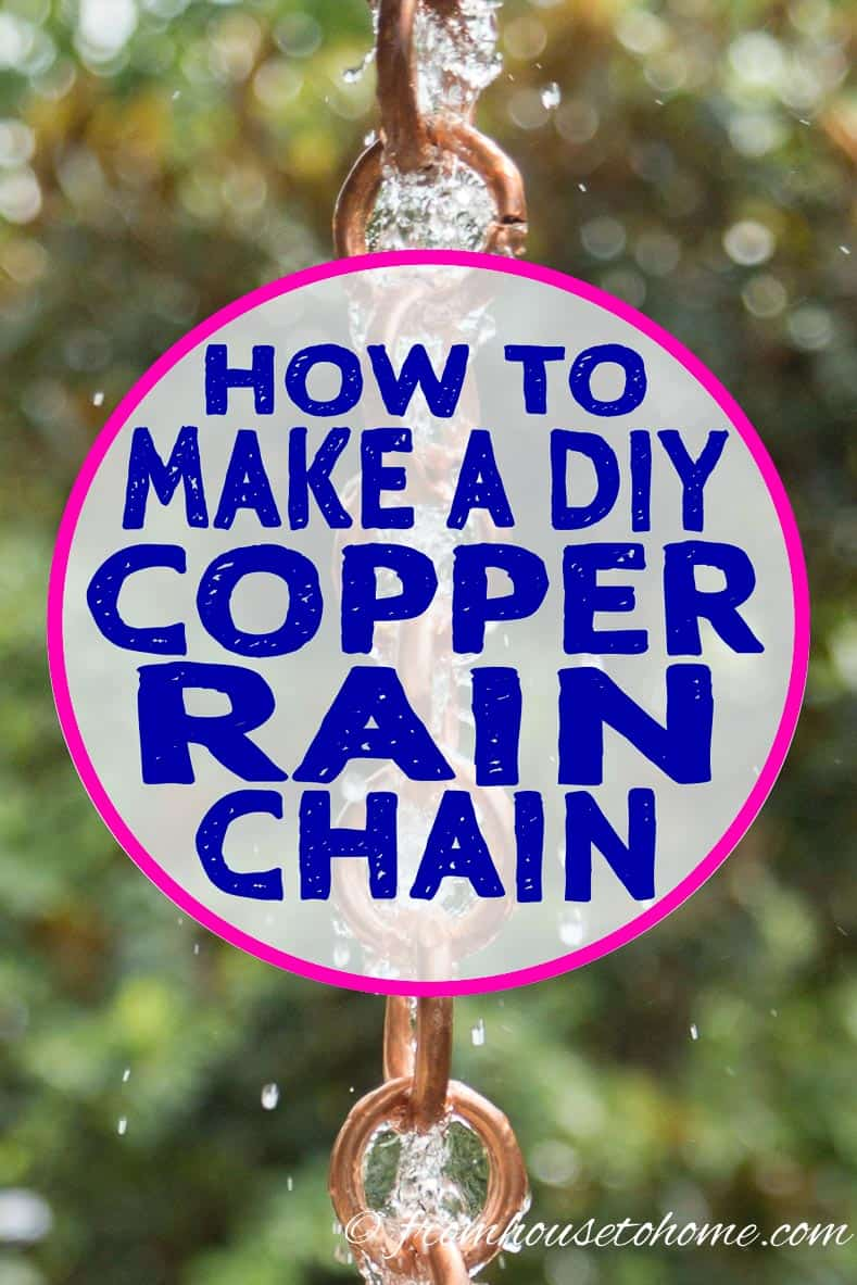 DIY rain chain - 2 ways
