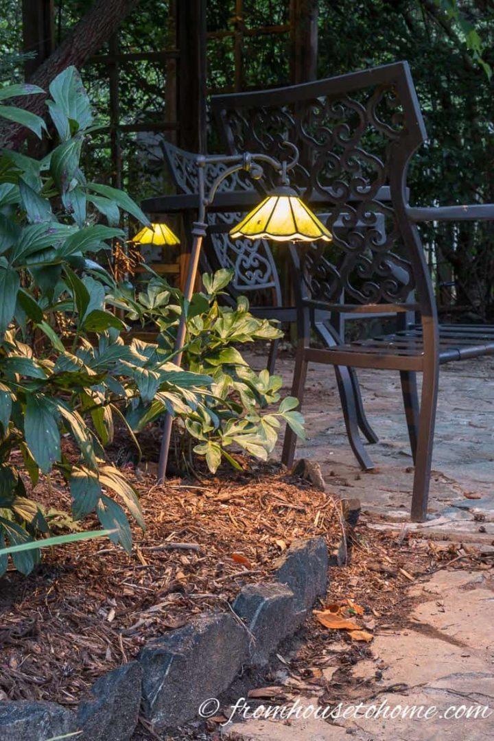 Landscape lighting in the garden