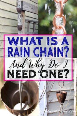 What is a rain chain?