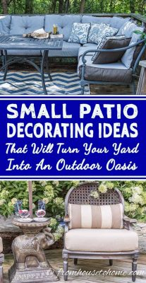 Small patio ideas and space-saving tips