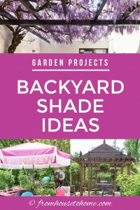 Garden Projects: backyard shade ideas