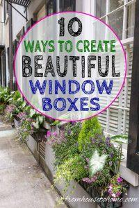 10 ways to create beautiful window boxes