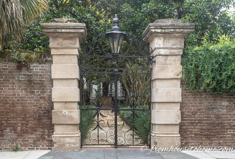 Charleston wrought iron gate is the first one of the secret garden design ideas