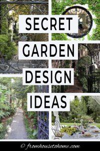 Secret garden design ideas
