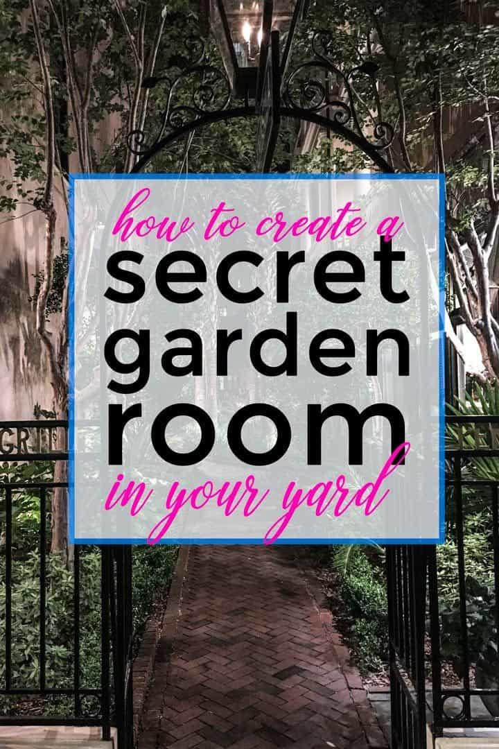 Secret garden room at night