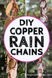 DIY copper rain chains