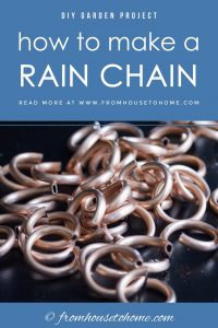 how to make a rain chain from copper tubing