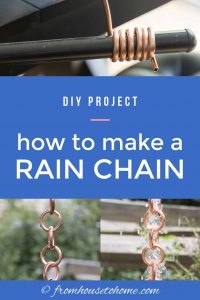 How to make a rain chain