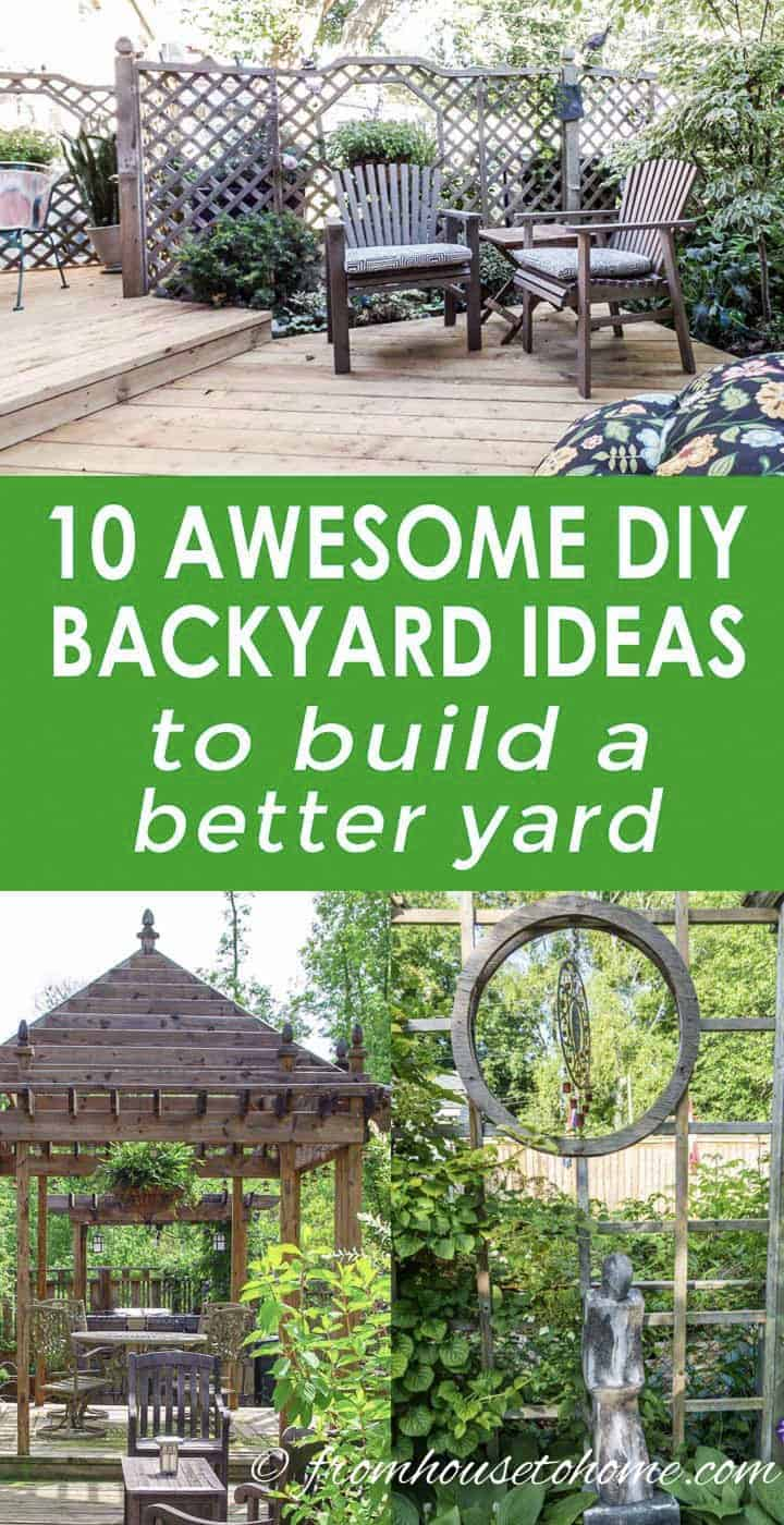 DIY backyard ideas to build a better yard