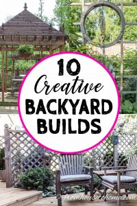 DIY backyard building ideas
