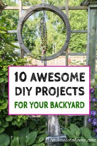 10 awesome DIY projects for your backyard