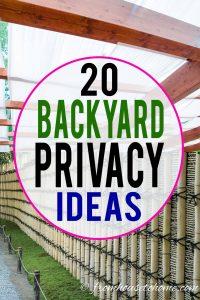 20 backyard privacy ideas