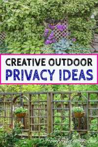 Creative outdoor privacy ideas