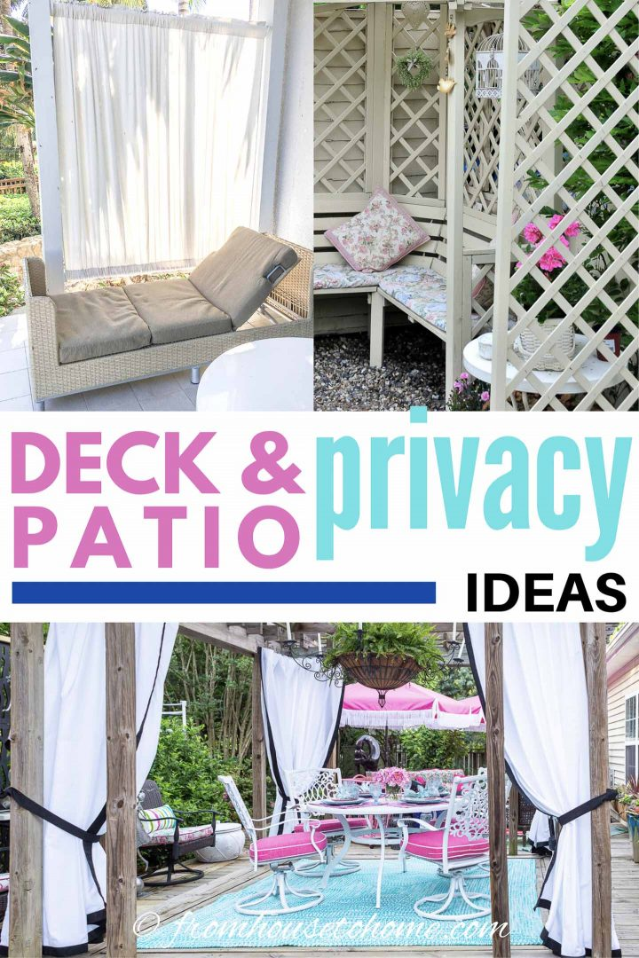 Deck and patio privacy ideas