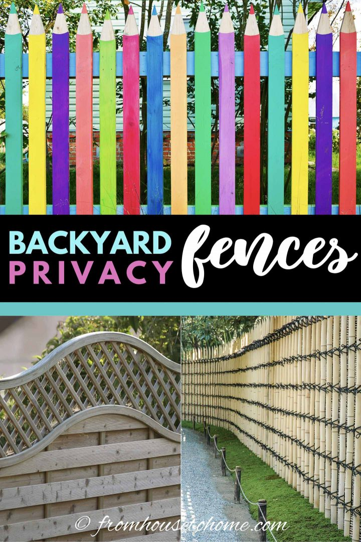 Backyard privacy fence ideas