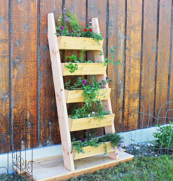 Ladder vertical garden by ana-white.com