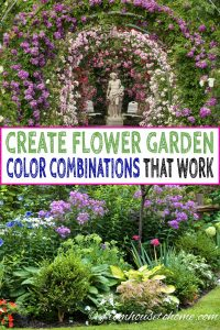 how to create flower garden color combinations that work