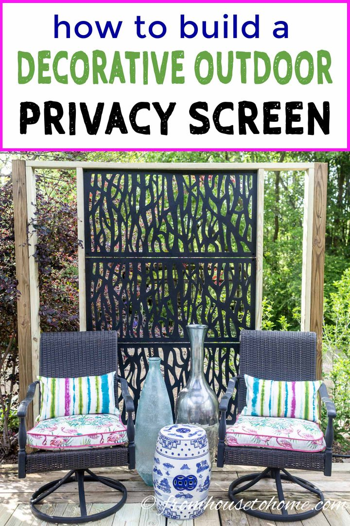 Decorative DIY outdoor privacy screen