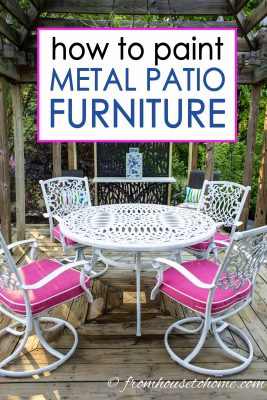 how to paint outdoor metal furniture