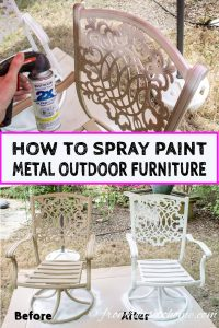 how to spray paint metal patio furniture